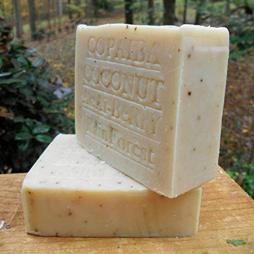 Brazilian Copaiba Soap with Acai Berry Butter and Coconut Milk Soap 7 oz. Handmade! by Natural Handcrafted Soap Company