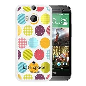 Unique Designed Kate Spade Cover Case For HTC ONE M8 White Phone Case 245