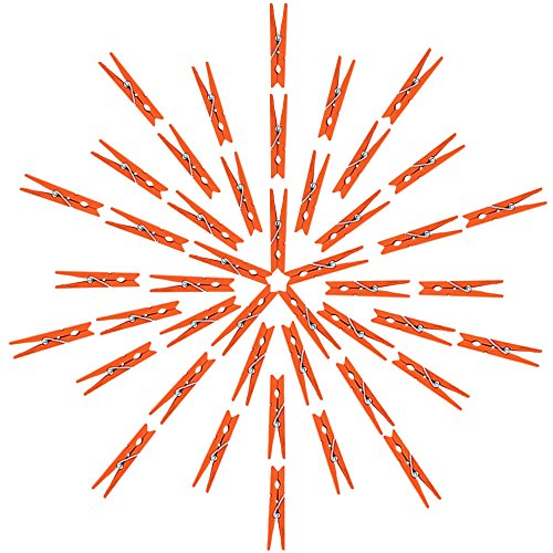 Just Artifacts 2.75-inch Craft Wood Clothespins/Peg Pins (100pc, Orange) by Just Artifacts (Image #2)