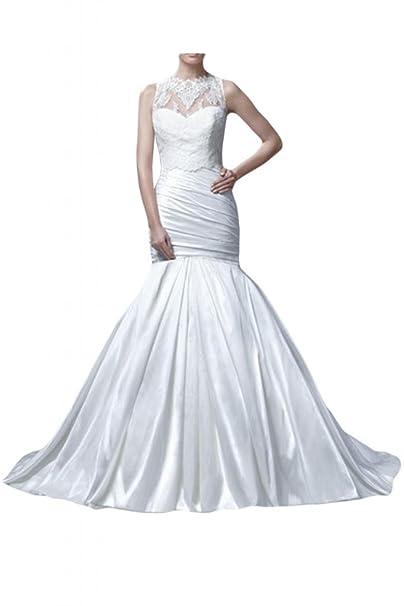 Toskana novia sueño antiadherente Mermaid Vestidos de novia largo tafetán con punta Princesa Boda Vestidos de