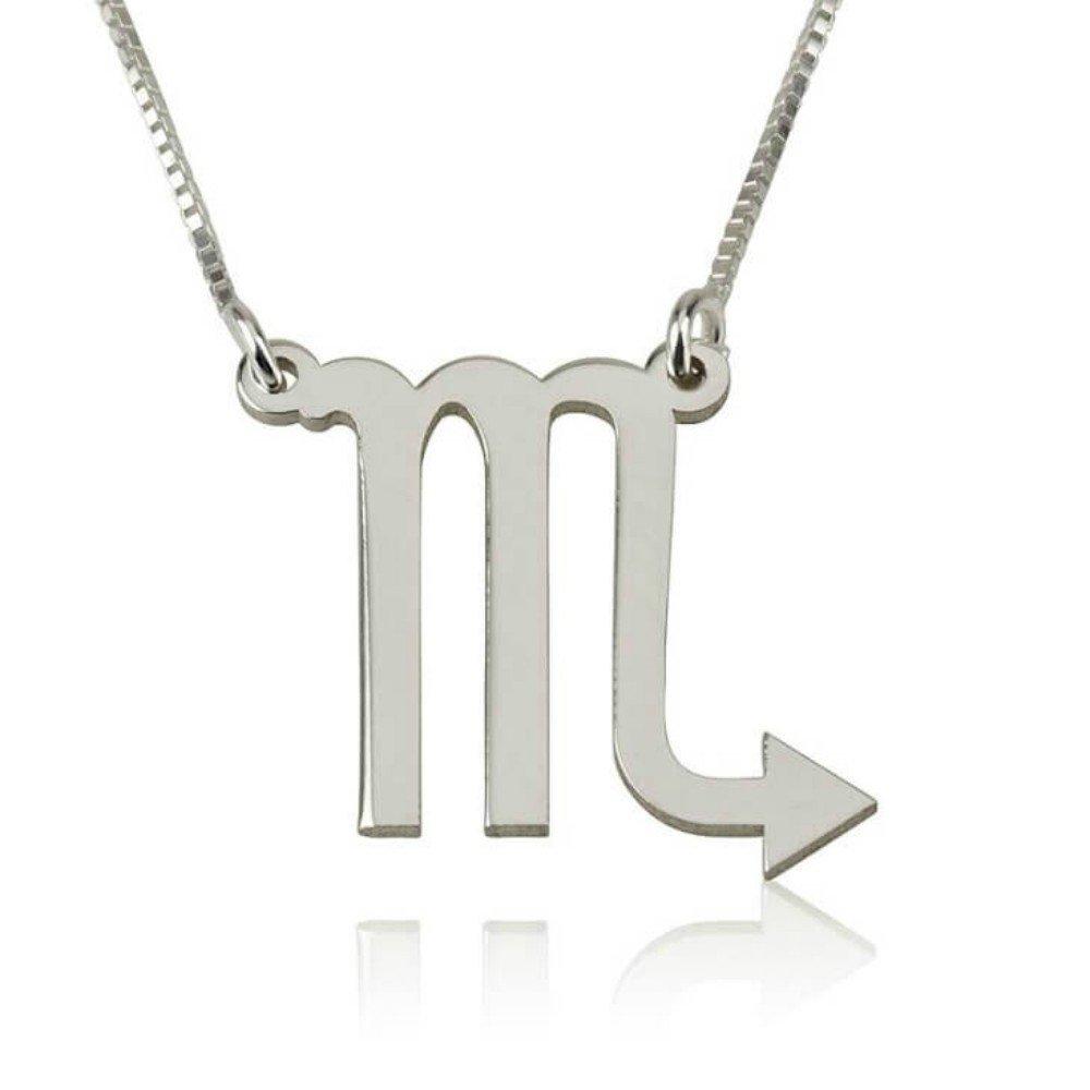 Scorpio Zodiac Necklace in Gold Plated Scorpio Constellation Necklace Zodiac Sign Jewelry