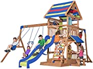 Backyard Discovery Beach Front Wooden Swing Set