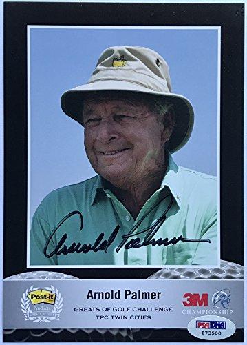 Arnold Palmer signed masters golf photo 3m promo autograph psa dna coa