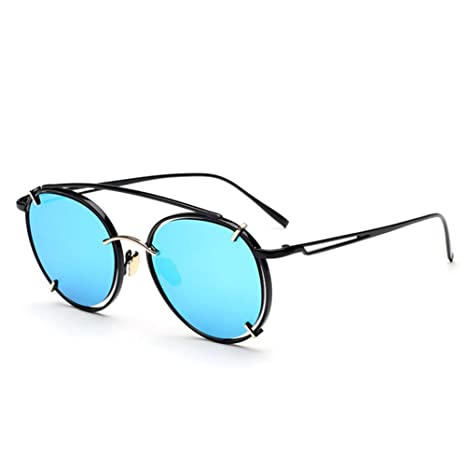 Z&YQ Retro Occhiali da sole Telaio Metallo Unisex Fashion bicchieri, white box mercury