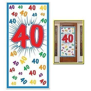 Amazoncom HAPPY 40th BIRTHDAY Party DOOR COVERBannerDECOR