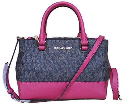 Michael Kors XS Kellen satchel brown lipstick pink bag crossbody bag handbag by Michael Kors