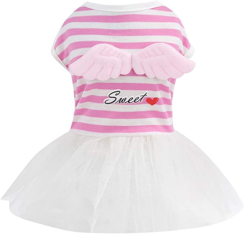 SuperUS Pet Summer Bowknot Dress Tutu Skirt for Small Dog Girls Vest Clothing Puppy Costume Apparel for Chihuahua//Yorkie//Keji//Bago