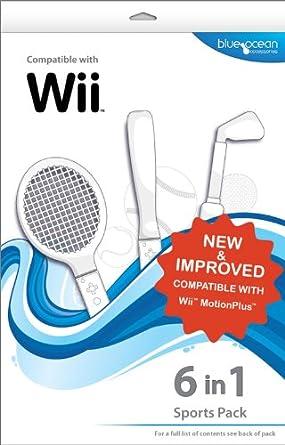 Blue Ocean Accessories 6-in-1 Sports Pack (Wii) [Importación inglesa]: Amazon.es: Videojuegos