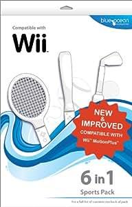 Blue Ocean Accessories 6-in-1 Sports Pack (Wii) [Importación inglesa]