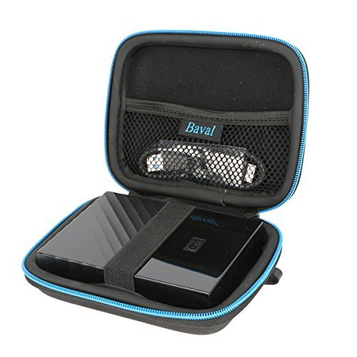 (Baval Hard Bag Case Replacement for Western Digital My Passport Studio Ultra Slim Essential WD Elements SE Portable 500GB 1TB 2TB USB 3.0 External Hard Drive)