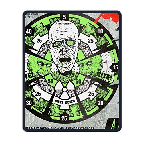 rk Zombie Horror Creepy ooky Scary Halloween Humor Funny Rubber Mouse Pad Desktop Anti IP Computer Mouse Mat Square