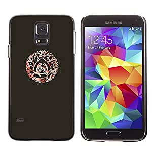 Be Good Phone Accessory // Dura Cáscara cubierta Protectora Caso Carcasa Funda de Protección para Samsung Galaxy S5 SM-G900 // Birds Love Kiss Branches