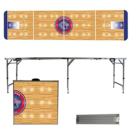 Louisiana Tech University Bulldogs 8 Foot Portable Folding Tailgate Table Basketball Court (Tech Tailgate Pong Table)