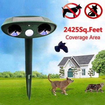Generic Greathouse Ultrasonic Solar Power Cat Dog Repeller Outdoor Garden Infrared Sensor Animal Scarer