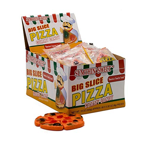 - Big Slice Pizza Gummy Candy (Pack of 60 ct)