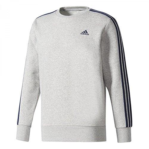 nbsp;bandes conavy Essentials Sweatshirt Crew Mgreyh Adidas 3 B pqtOwFx7