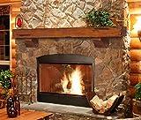 fireplace mantel shelves  412-60-50 Shenandoah Pine 60-Inch Fireplace Mantel Shelf, Rustic Medium (Renewed)