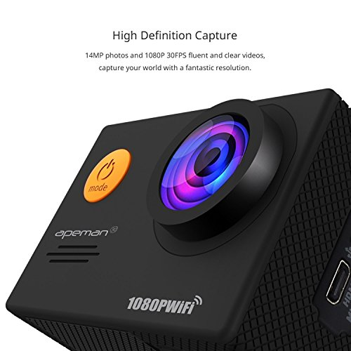 APEMAN-Action-Camera-WiFi-14MP-1080P-FHD-Sports-Camera-with-20-Inch-LCD-Display-170Ultra-Wide-Angle-Lens-2-Rechargeable-1050mAh-Batteries-Portable-Package-Including-Full-Accessories-Kits