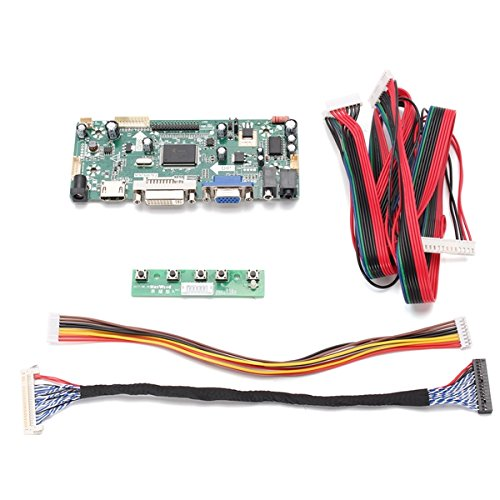 LaDicha DIY LCD controlador convertidor de pantalla del tablero para LM240WU2-SLA1 interfaz de entrada HDMI + DVI + VGA pixel 1920 * 1200