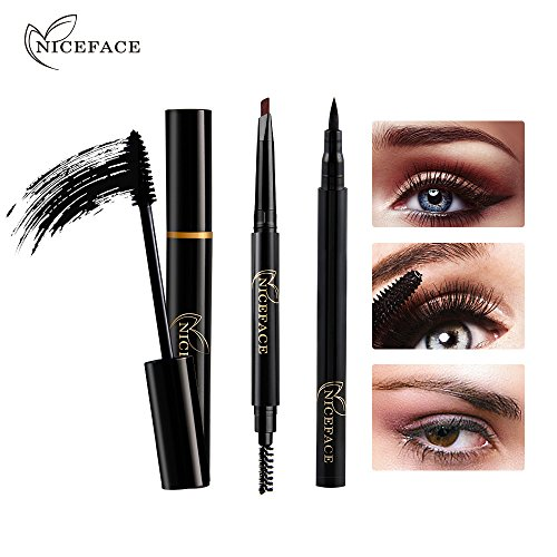 Amazon.com : 3pcs Eye Makeup Combination Eyeliner Mascara Eyebrow Pencil Black Waterproof by Baomabao (A) : Beauty