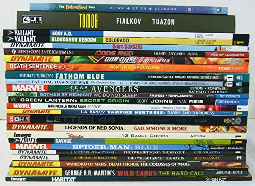 Lot of (25) TPBs - includes Marvel DC Valiant & more - wholesale ; TPB