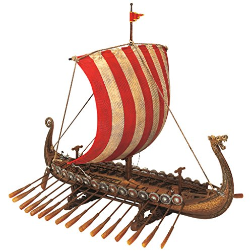 Design Toscano Drekar the Viking Longship Collectible Museum Replica Statue, 13 Inch, Full Color