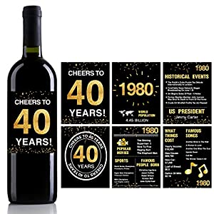40th Birthday Wine Label Forty More Reasons to Drink this Wine