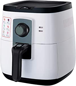 ZZHMW Electric Hot Air Fryer Extra Large Capacity 4.5L / 4.5Qt Air Fryers and Additional Accessories, Knob Control, Recipes and Skewers Accessory Set, 1400W.