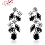 GDSHOP Fashion Jewelry brincos pendientes Women Dangle Drop Earrings 10KT White Gold Filled Zircon Wedding Earring