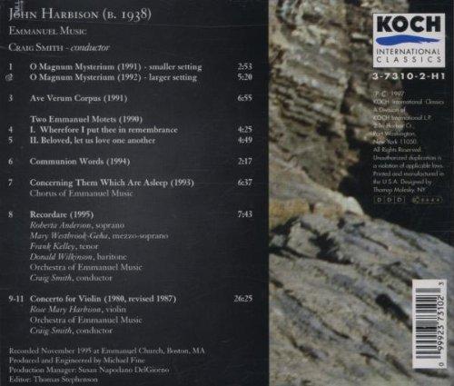 Harbison: Violin Concerto/Recordare/Seven Motets