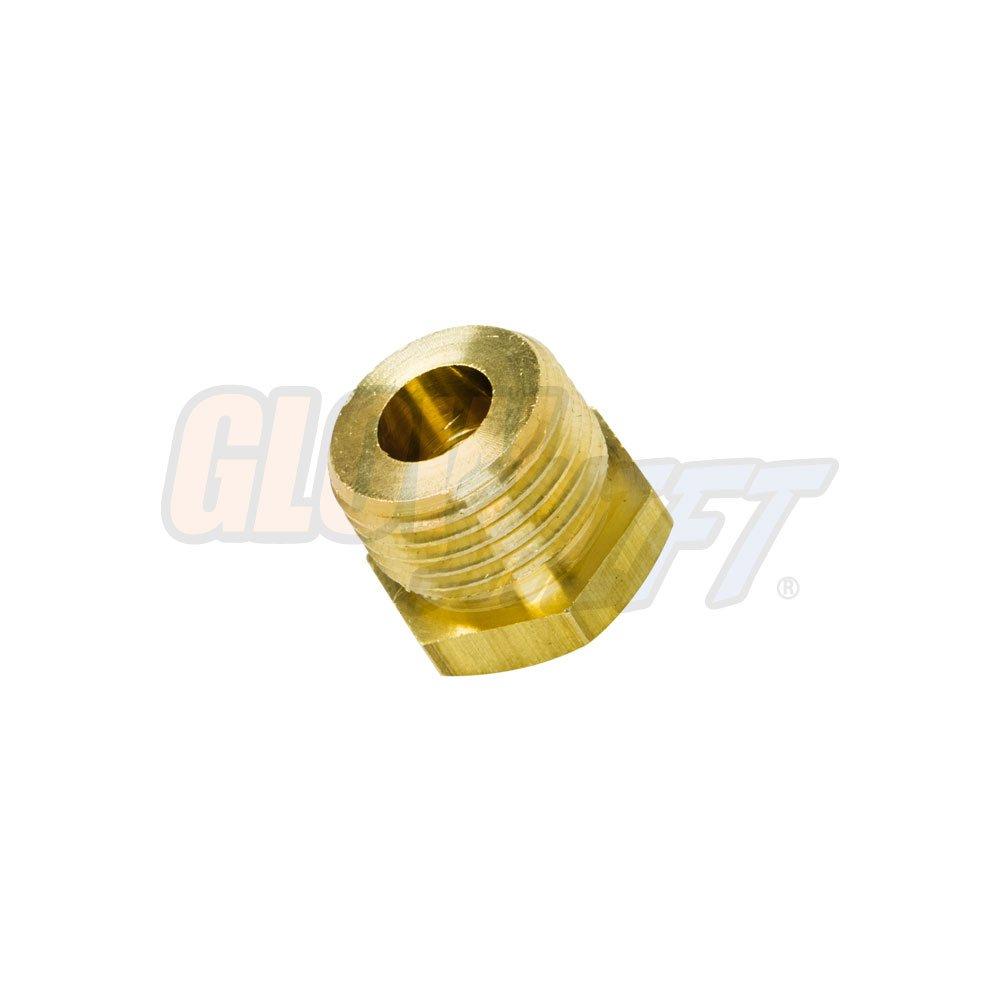 GlowShift 1/8-27 NPT Female to M18 P-1.5 Male Gauge Sensor Sender Thread Adapter Reducer GlowShift Gauges GS-FA-M18