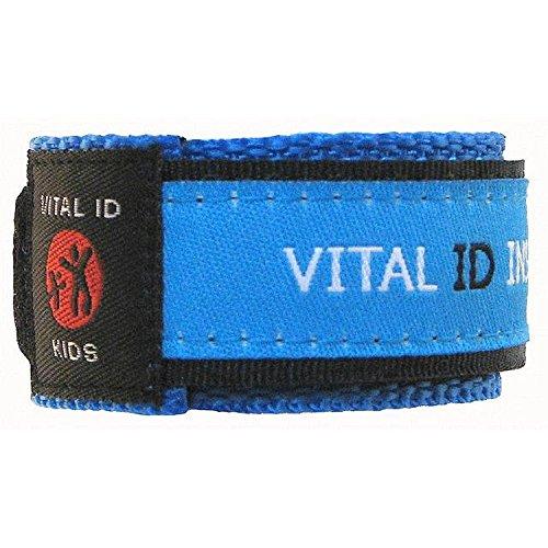 (Vital Id Child Safety Adjustable Wristband (Blue))
