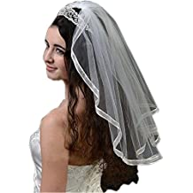 ShengTeng Ribbon Edge Bride Veils Short Wedding Veils For Wedding dress