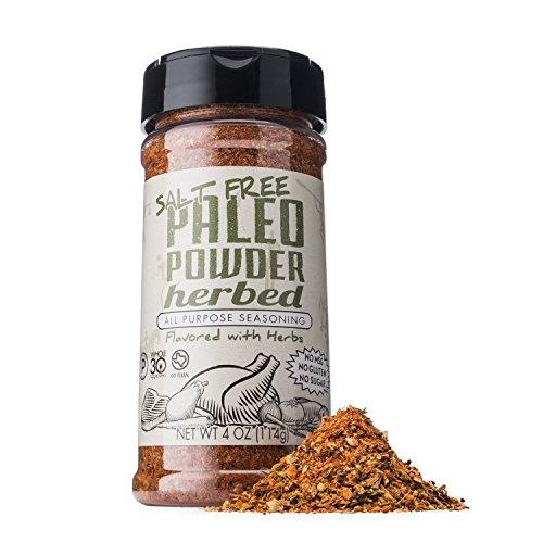 Paleo Powder All Purpose Salt Free Herb Seasoning. The Original Paleo Salt-Free Seasoning Great for all Paleo Diets! Certified Ketogenic Food, Paleo Whole 30, AIP Food, Gluten Free Seasoning.