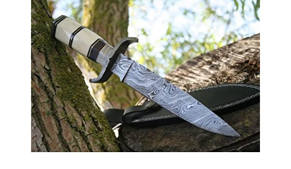 Tamaño de Acero de Damasco Cuchillo de diseño de la Edad ...