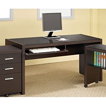 coaster home furnishings 800901 contemporary computer desk cappuccino amazoncom coaster shape home office computer
