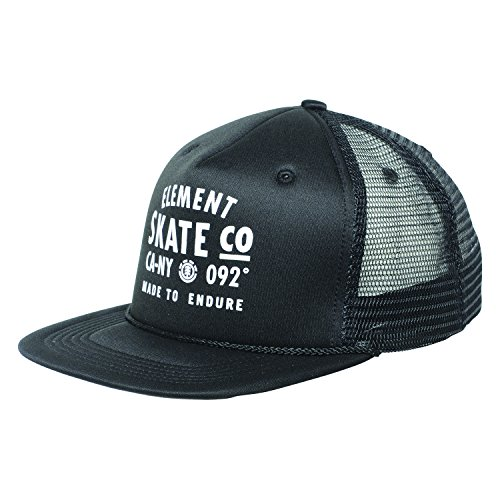 Element Men's Trucker Mesh Adjustable Hats, Tract Flint Black, ONE