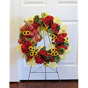 Summer Cemetery Wreath, Cemetery Wreath with Geraniums, Father's Day Cemetery Wreath 28