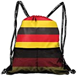 Germany Flag Strapes Drawstring Sack Swim Sport Cinch Sackpack Large Capacity Beam Backpack, Home Travel Storage Use Gift For Men & Women, Girls Boys