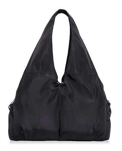Amazon.com  Women Nylon Travel Shoulder Bags Handbags Purse Water-Resistant  Casual Tote Bag Black  Shoes 854bad25253d4