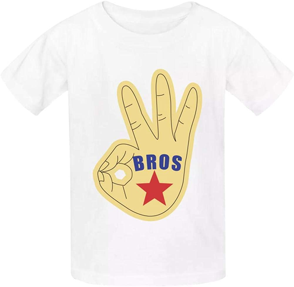 Bros Childrens Boy 100/% Cotton Print Short Sleeve T-Shirt