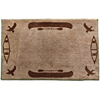 HiEnd Accents Canoe Lodge Bath Kitchen Rug, 24 x 36