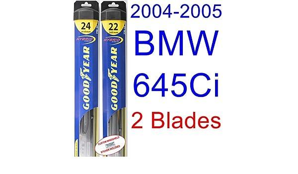 2004 - 2005 BMW 645 CI hoja de limpiaparabrisas de repuesto Set/Kit (Goodyear limpiaparabrisas blades-hybrid): Amazon.es: Coche y moto