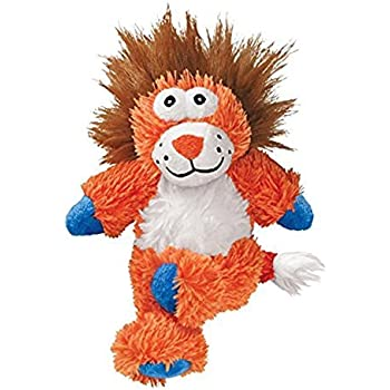 Pet Supplies : KONG Cross Knots Plush Squeaky Lion Dog Toy