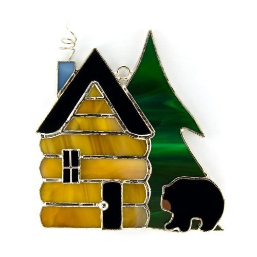 Switchables Glass Cover: Black Bear Log Cabin