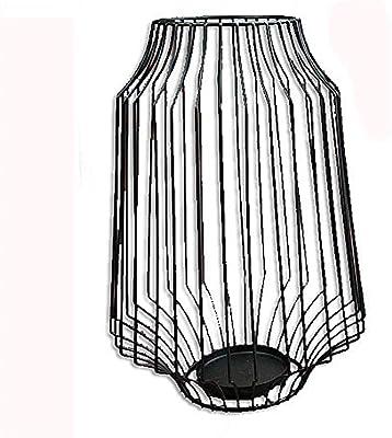 ZSLMX Creativo Negro Marruecos DiseñO Ligero Poseedor Escritorio Mesa Café Centros Mesa Decorativos Circular 3D Estilo Bohemio Metal Candelabros por Navidad Fiesta CumpleañOs Boda,RetroLantern: Amazon.es: Hogar