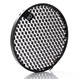 "Fotga 60° Honeycomb Grid for 6.8"" Inner Dia and 7.28"" Outer Dia Standard Reflector Diffuser Lamp Shade Dish Bowens Mount Studio Strobe Flash Speedlite Light"