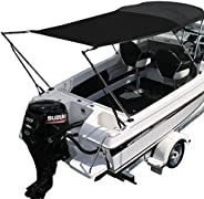 Oceansouth Boat Airflow Bimini Top Extension Sun Shade Kit with 32mm Aluminum Poles