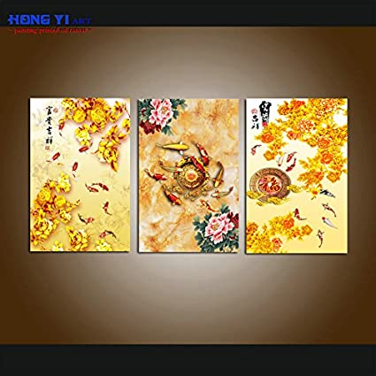 Amazon.com: HONG YI Art-Canvas Print, Giclee Artwork, Stretched and ...