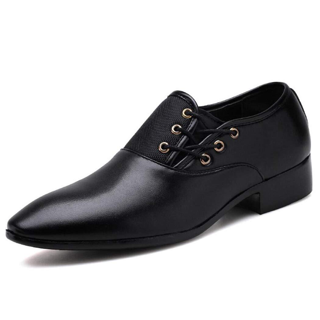 Zxcvb Männer Fahion Semi-Formal Business Oxfords Lace up Spitz Hochzeit Formale Kleid Schuhe - Formale Leder Herren Schuhe